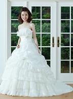 レンタルウェディングドレス Aライン ホワイト ドレス001