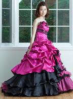 レンタルカラードレス Aライン パープル ドレス005